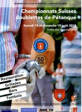 Championnat suisse Doublettes de Pétanque