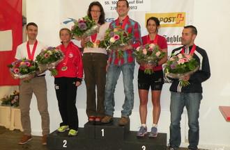 Gabriele Werthmüller et Florian Vieux en haut du podium
