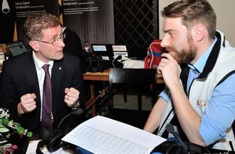 Christoph Neuhaus en discussion avec Federico Rapini