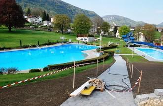 Vue de la piscine de Moutier