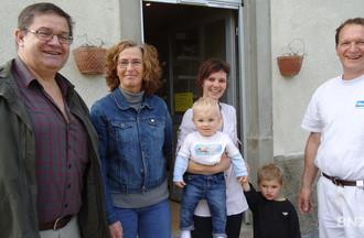 Jean-Claude Simo-Vermot, Francine John-Calame, Laetitia et Olivier