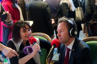 Alain Ribaux interrogé par Sarah Massy.