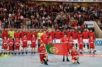 Match de l'équipe de Suisse de Handall face au Portugal à Bienne