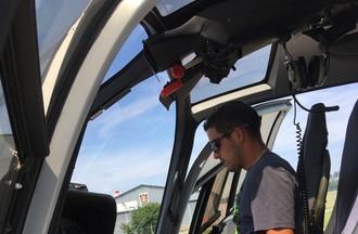 Romain a réalisé son rêve de piloter un hélicoptère