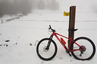 Vélo on snow