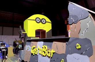 Construction de chars de carnaval