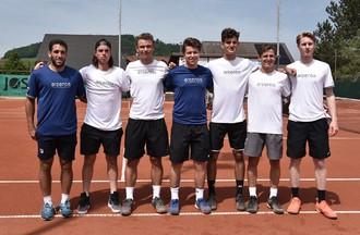 Hernan Casanova, Mirko Martinez, Arthur Neuhaus, Jonathan Wagner, Tom Cecchetto, Damien Wenger et Raul Teichmann (de gauche à droite)