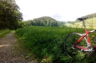 Tour à vélo en pleine nature