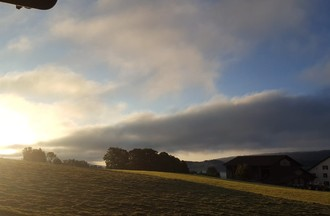 Lever de soleil sur le Jura