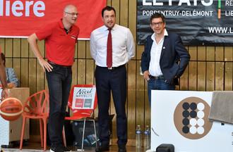 Paul Vallat, Romain Gaspoz et Stéphane Brugnerotto (de gauche à droite)