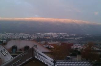 Jean-Pierre à eu un peu froid, mais a vu un joli lever de soleil sur Chaumont