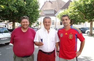 Sylvain, Michel Rossi et José