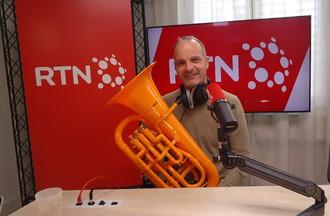 Jérôme Mouttet, avec son euphonium