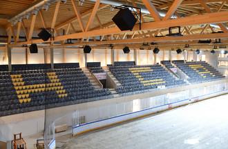 La tribune principale de la Raiffeisen Arena