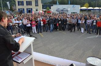 Près de 500 personnes ont répondu à l'appel du syndicat