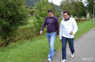 Alain Wyss, président du FC Court, accompagne Christian Constantin