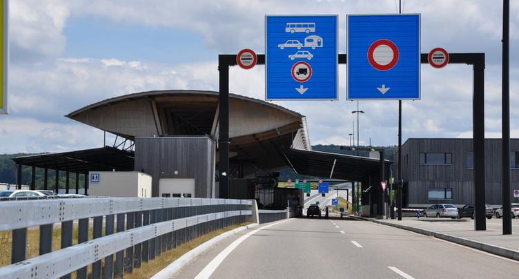 Un quart de trafic en plus en 10 ans à la douane à Boncourt