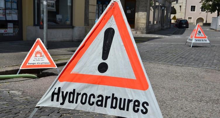 Fuite d'hydrocarbures entre Sonceboz et Cormoret