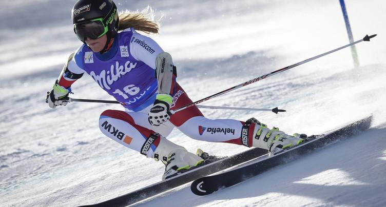 Lara Gut sur la plus haute marche à Garmisch