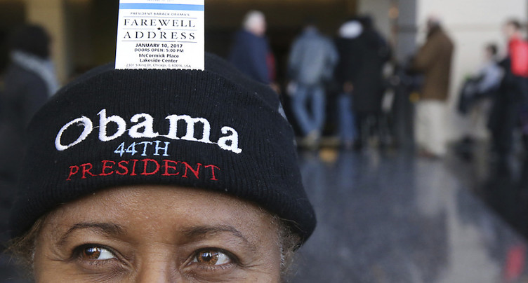 Barack Obama fait ses adieux depuis Chicago
