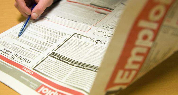Le nombre moyen de chômeurs en hausse de 4,6% en Suisse l'an passé