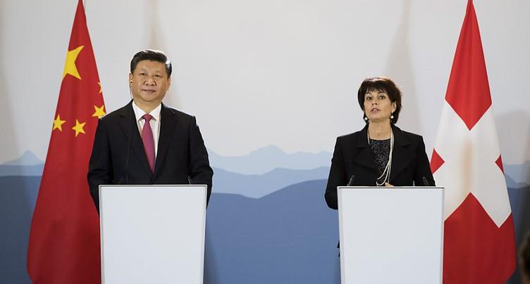 La Suisse et la Chine, une « relation exemplaire »