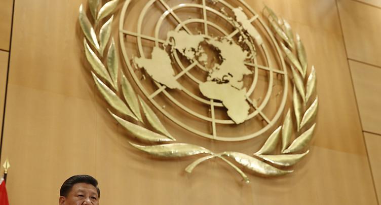 Le président chinois demande à Genève un monde sans arme nucléaire
