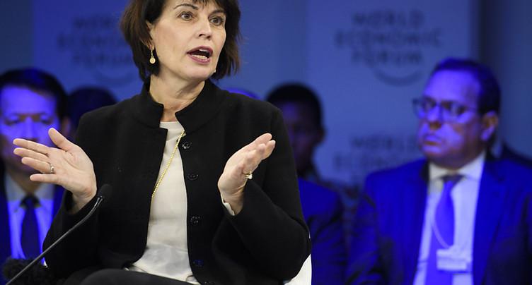 Doris Leuthard a multiplié les rencontres au WEF