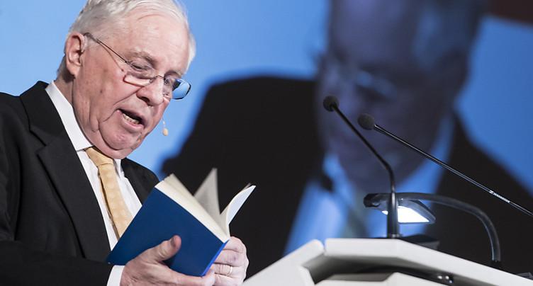 Christoph Blocher appelle à défendre l'indépendance de la Suisse