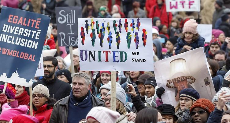 Marche anti-Trump pour les droits des femmes à Genève
