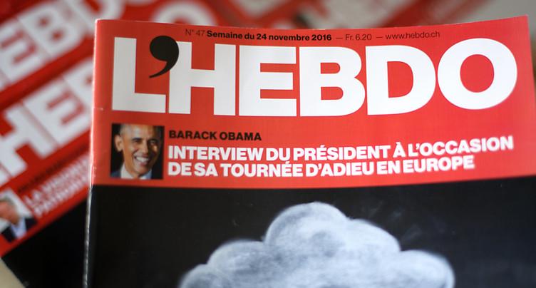Impressum consterné par la disparition de L'Hebdo