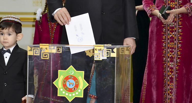 Berdimoukhamedov réélu avec 97,69% des voix au Turkménistan