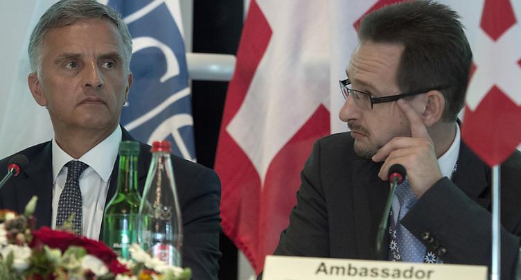 Un Suisse candidat pour devenir secrétaire général de l'OSCE