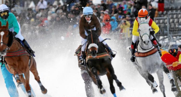 Accident à une course hippique à St-Moritz (GR)