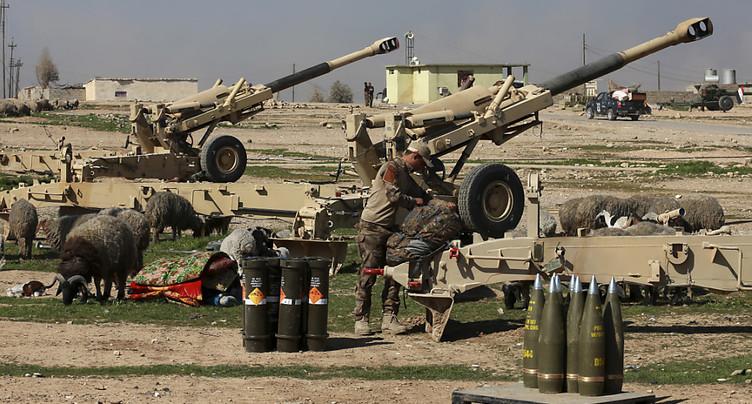 Le fleuve Tigre, objectif des troupes irakiennes à Mossoul