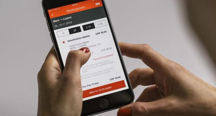 Les CFF veulent utiliser l'App horaire pour de la pub personnalisée