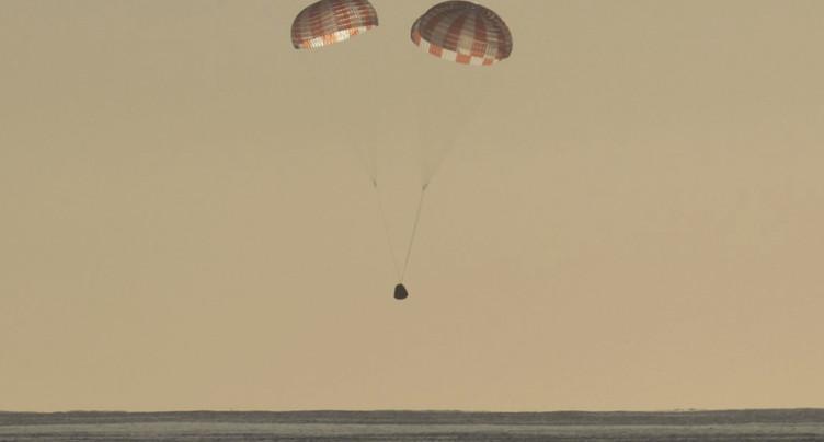 La capsule de SpaceX a amerri dans le Pacifique sans encombre