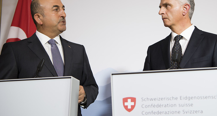 Le chef de la diplomatie turque reçu par Didier Burkhalter à Berne