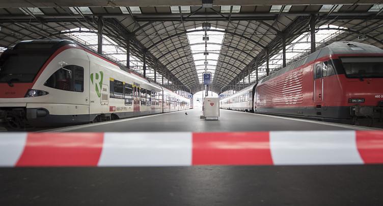 Le trafic des CFF reste paralysé à Lucerne jusqu'à nouvel avis