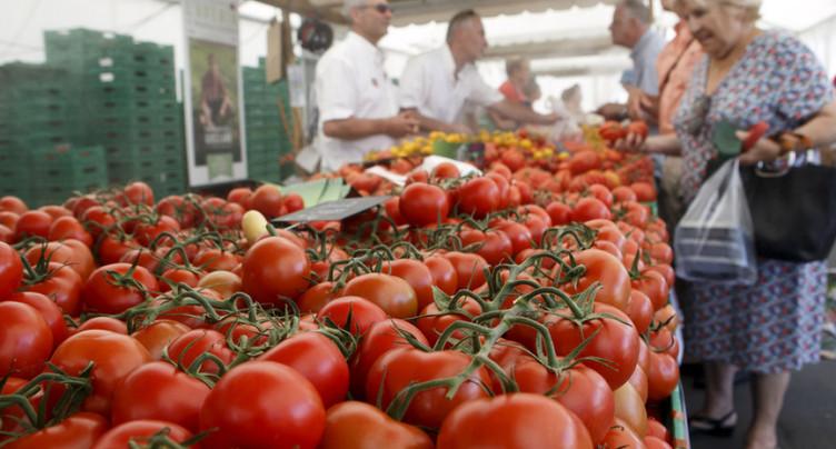 Moins de légumes dans l'assiette des Suisses en 2016