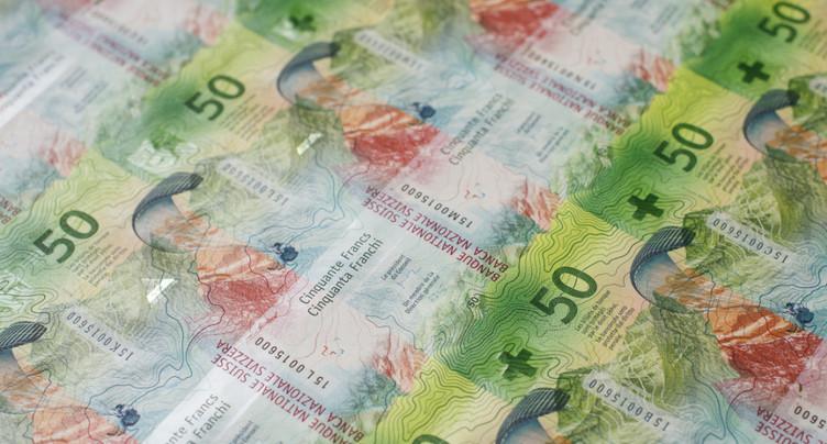 Excédent courant de la Suisse de 70 milliards en 2016