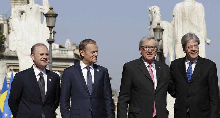 Après 60 ans, l'UE renouvelle à Rome ses voeux de mariage