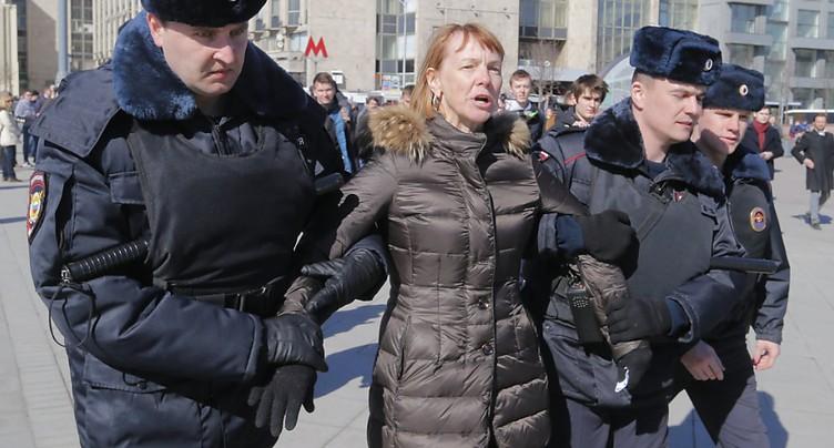 Au moins 130 manifestants arrêtés à Moscou, mobilisation dans plusieurs villes