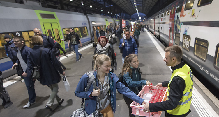 Les trains circulent à nouveau en gare de Lucerne