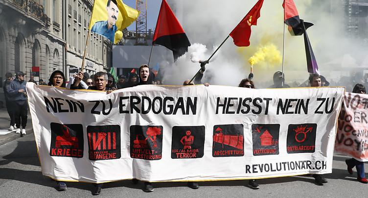Manifestation anti-Erdogan à Berne: la justice turque ouvre une procédure