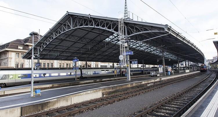 Les travaux à la gare de Lausanne peuvent commencer