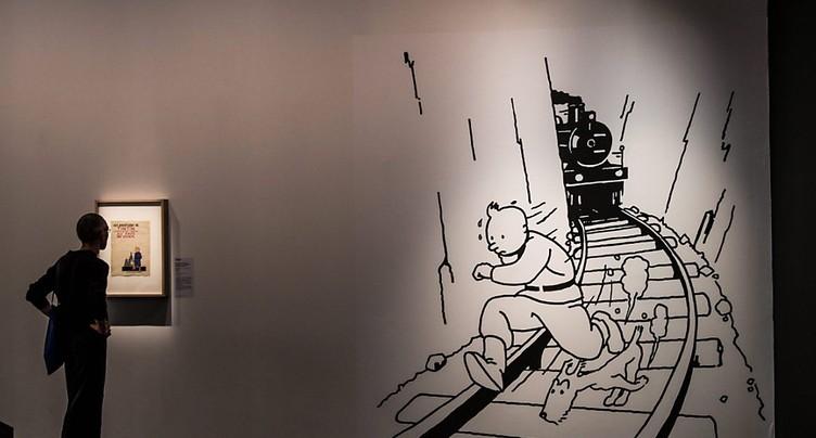 Une rare illustration de Tintin vendue plus de 800'000 francs