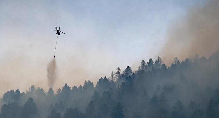 Le danger d'incendie augmente en Valais à cause de la sécheresse