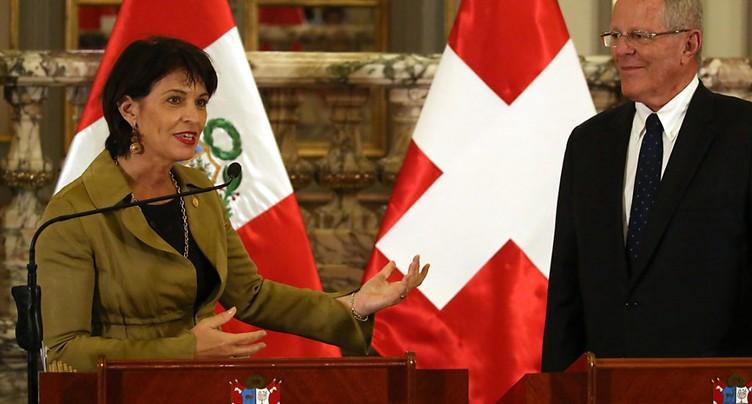 Suisse et Pérou veulent approfondir leurs relations - initiative sur l'« or responsable »
