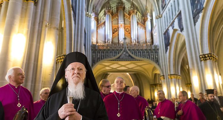 Bartholomée Ier, archevêque de Constantinople, en visite en Suisse